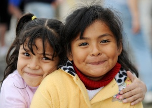 Two little girls who are benefiting from Back2Back Ministries work in Mexico