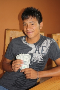 Marcos with his $4 for the day